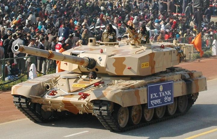 This mbt uses chassis of the t 72m1 ajeya and turret and weapon fire